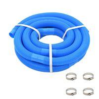vidaXL poolslange med klemmer 38 mm 6 m blå