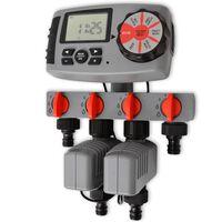 42352 vidaXL Automatisk irrigationstimer med 4 stationer 3 V
