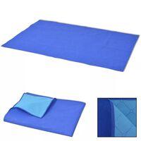 vidaXL picnictæppe blåt og lyseblåt 100x150 cm