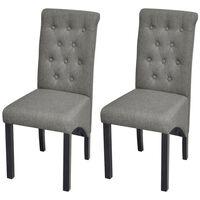 vidaXL spisebordsstole 2 stk. stof lysegrå