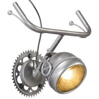 vidaXL væglampe i cykelstyrsdesign jern