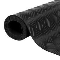vidaXL skridsikker gulvmåtte ternet mønster  5 x 1 m gummi