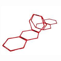 Pure2Improve sekskantet adræthedsstige 6 dele rød