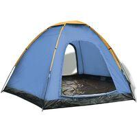 vidaXL 6-personers telt blå og gul