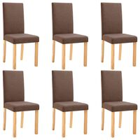 vidaXL spisebordsstole 6 stk. stof brun