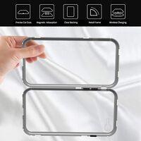 iPhone 7 / iPhone 8 magnetisk cover - glas / metal sølv
