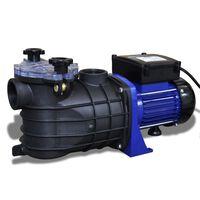 vidaXL poolpumpe elektrisk 500 W blå
