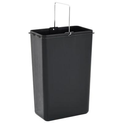 vidaXL affaldsspand med sortering rustfrit stål 45 l sølvfarvet