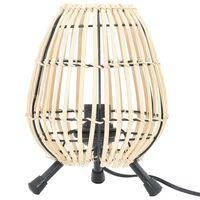 vidaXL bordlampe piletræ E27 60 W 20x27 cm