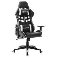 vidaXL gamingstol kunstlæder sort og hvid