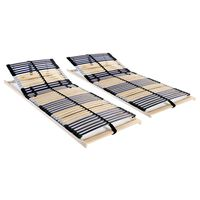 vidaXL lamelbunde til seng 2 stk. 42 lameller 7 zoner 80 x 200 cm