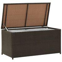 vidaXL opbevaringskasse til haven 100x50x50 cm polyrattan brun