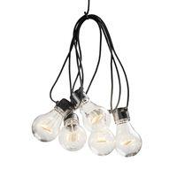 KONSTSMIDE lyskæde med 10 ravgule lamper startsæt ekstra varmt lys