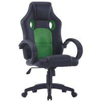 vidaXL gamingstol kunstlæder grøn