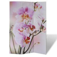 vidaXL foldeskærm rumdeler 120 x 170 blomstermotiv
