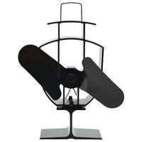 vidaXL varmedrevet ventilator med 2 blade sort