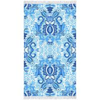 Happiness badehåndklæde YOGI 100x180 cm blå