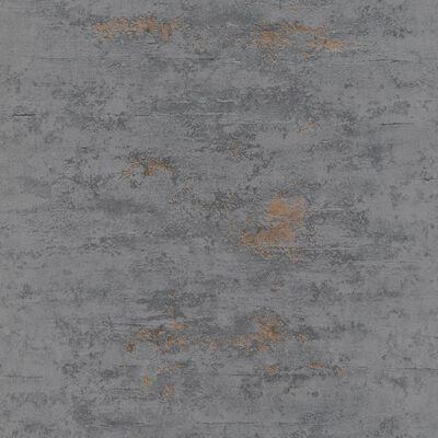 Topchic tapet betonstil grå og kobberfarvet