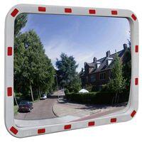 vidaXL konvekst trafikspejl rektangulært 60x80 cm med reflekser