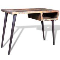vidaXL skrivebord med jernben genanvendt træ