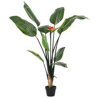 vidaXL kunstig Strelitzia reginae-plante paradisfugl 155 cm