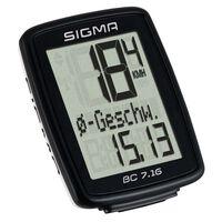 Sigma cykelcomputer BC 7.16 sort 7160