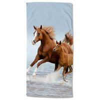 Good Morning badehåndklæde FREE 75x150 cm brun og blå