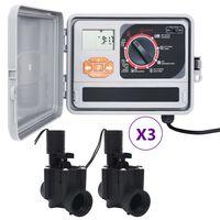 vidaXL kontrolenhed til vandingssystem med 6 magnetventiler