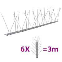 vidaXL fuglepigge 4 rækker sæt af 6 stk. 3 m