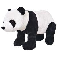 vidaXL stående legetøjspanda plys sort og hvid XXL