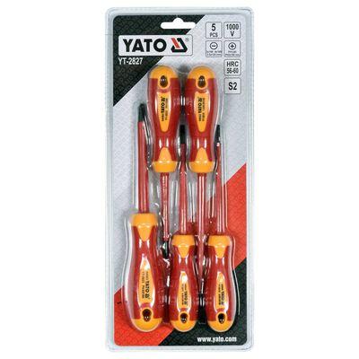 YATO isoleret skruetrækkersæt 5 dele 1000V