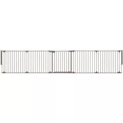 Safety 1st sikkerhedslåge Modular 5 5 paneler grå 82-358 cm 24966580