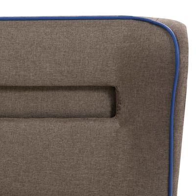 vidaXL seng med LED og madras 120 x 200 cm gråbrun stof