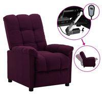 vidaXL elektrisk lænestol stof lilla