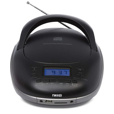 Nikkei CD-afspiller med FM-radio og USB NPRC56BK 14W sort