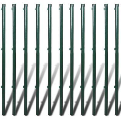vidaXL fletvævshegn med stolpespyd 1,5x25 m stål