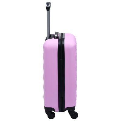 vidaXL kuffertsæt 2 stk. hardcase ABS pink