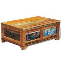 vidaXL sofabord med opbevaringsplads vintagestil genbrugstræ