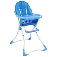 vidaXL højstol blå og hvid