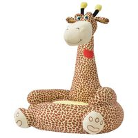 vidaXL børnestol i plys brun giraf