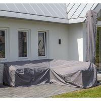 Madison udendørs loungesætovertræk 235x235x70 cm grå