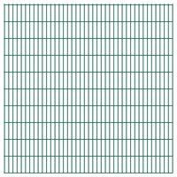 vidaXL 2D hegnspanel 2,008x2,03 m grøn