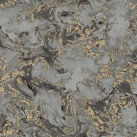 DUTCH WALLCOVERINGS tapet marmor grå og guld