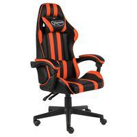 vidaXL racerstol kunstlæder sort og orange