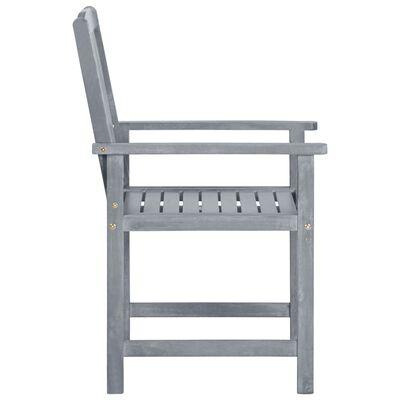 vidaXL instruktørstole med hynder 2 stk. massivt akacietræ grå