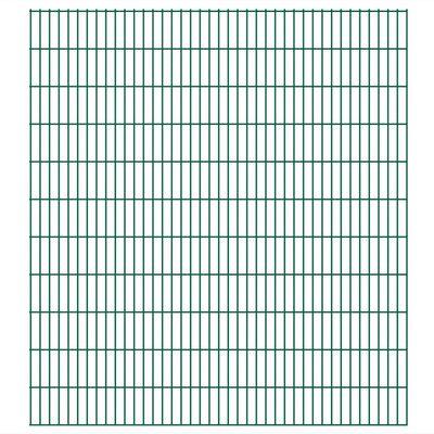 vidaXL havehegnspaneler 2D 2,008x2,23 m 42 m (total længde) grøn