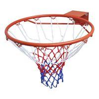 vidaXL basketballkurvesæt med ring og net 45 cm orange