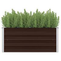 vidaXL hævet plantekasse 100x40x45 cm galvaniseret stål brun