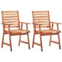 vidaXL udendørs spisebordsstole 2 stk. massivt akacietræ