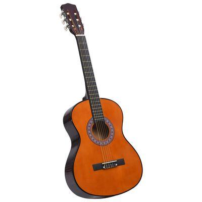 """vidaXL klassisk guitar for begyndere og børn 3/4 36"""" lindetræ"""
